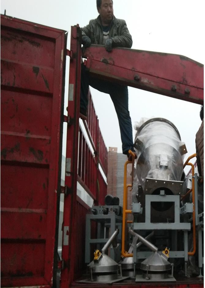 青岛百德瑞轨道交通科技有限公司的自动配料系统设备部分准时交货